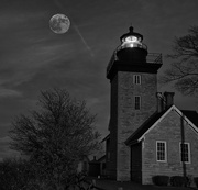 14th Nov 2016 - Supermoon at Thirty Mile Point Lighthouse