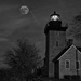 Supermoon at Thirty Mile Point Lighthouse by bill_fe