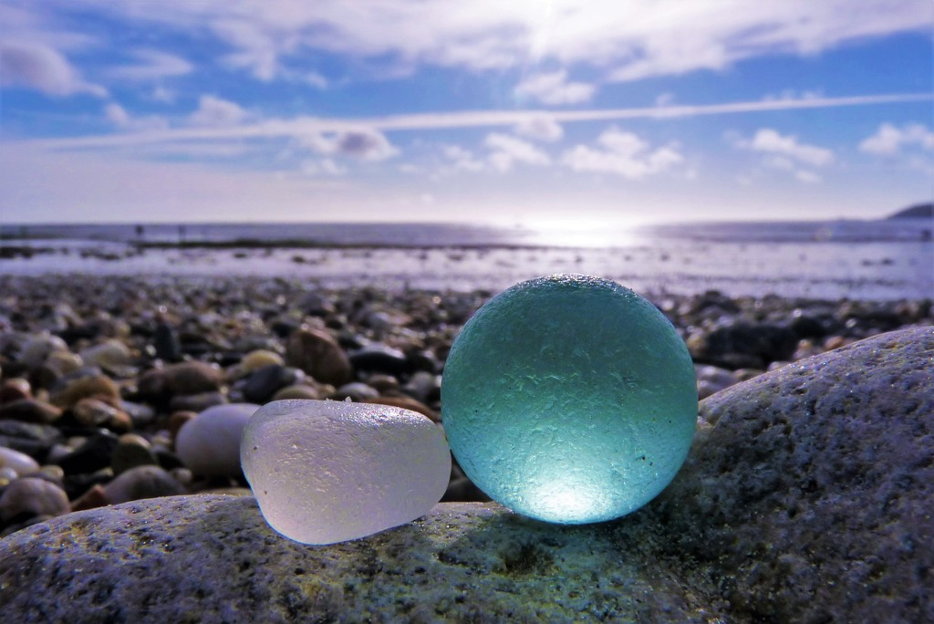 Seaglass marble by rubyshepherd