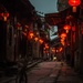 Walking down the lantern alley by jyokota