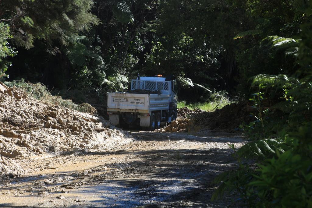 Trucking the mud out by kiwinanna