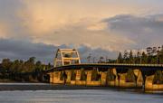 18th Nov 2016 - Golden Light On Waldport Bridge As the Sun Comes Up