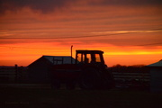 18th Nov 2016 - Tractor and Kansas Sunset