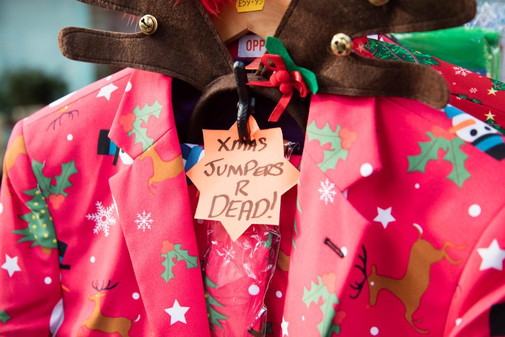 Xmas jumper makeover by padlock