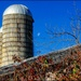 Three Silos and the Moon by olivetreeann