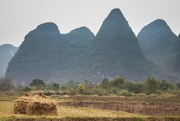 16th Nov 2016 - Haystacks Against the Guilin Mountains