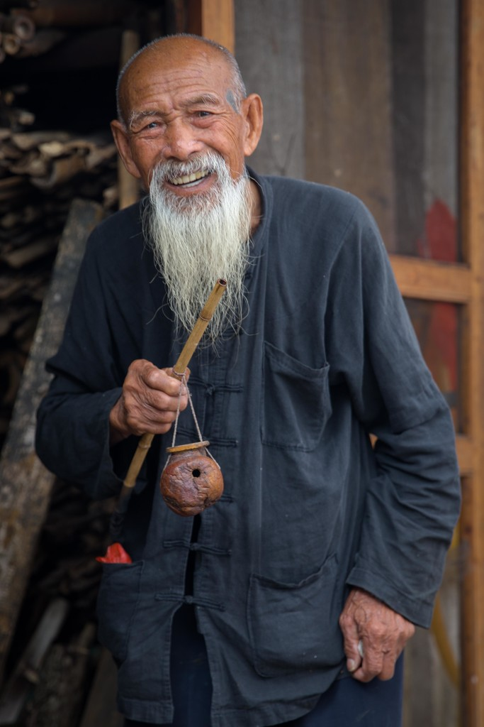 Fisherman with Pipe and Tobacco Pouch by jyokota