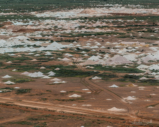 Aerial view of the opal fields at Coober Pedy by bella_ss