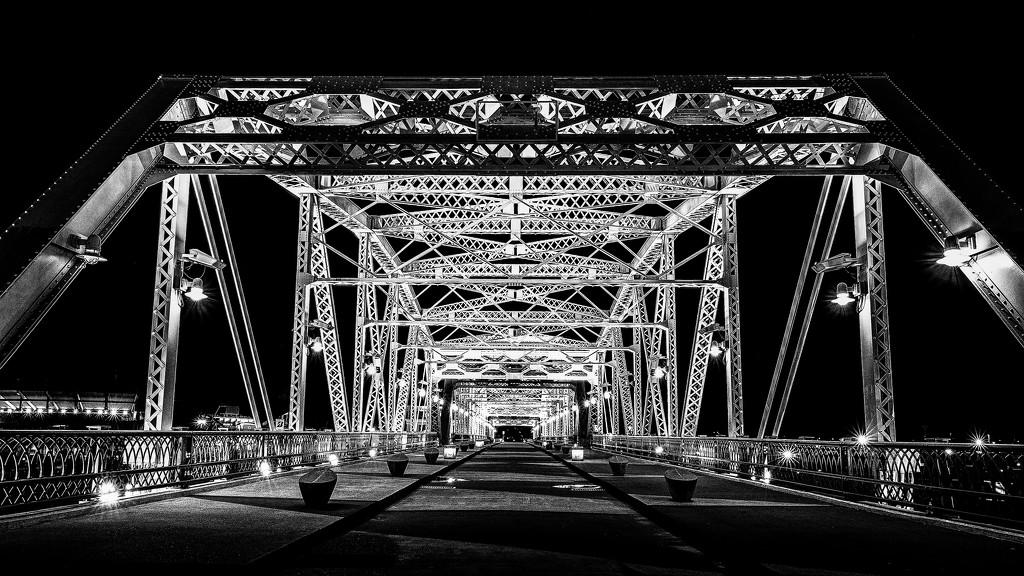 Nashville Pedestrian Bridge  by jyokota