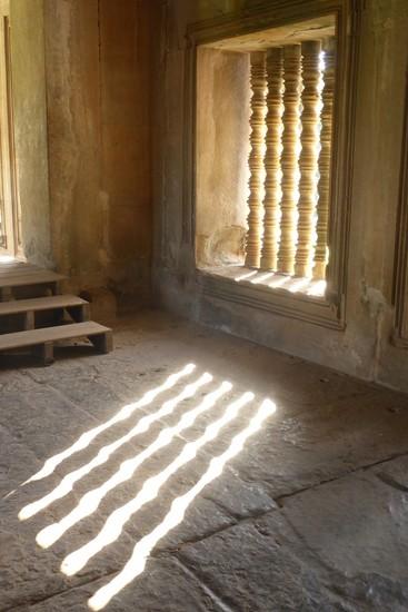 Cambodia: window at Angkor Wat by helenhall