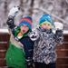 Snowball fight pose by kiwichick