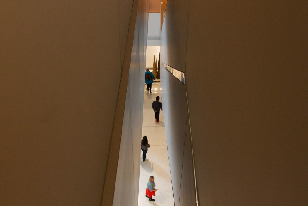 A view from above at the Seattle Art Museum.   by seattle