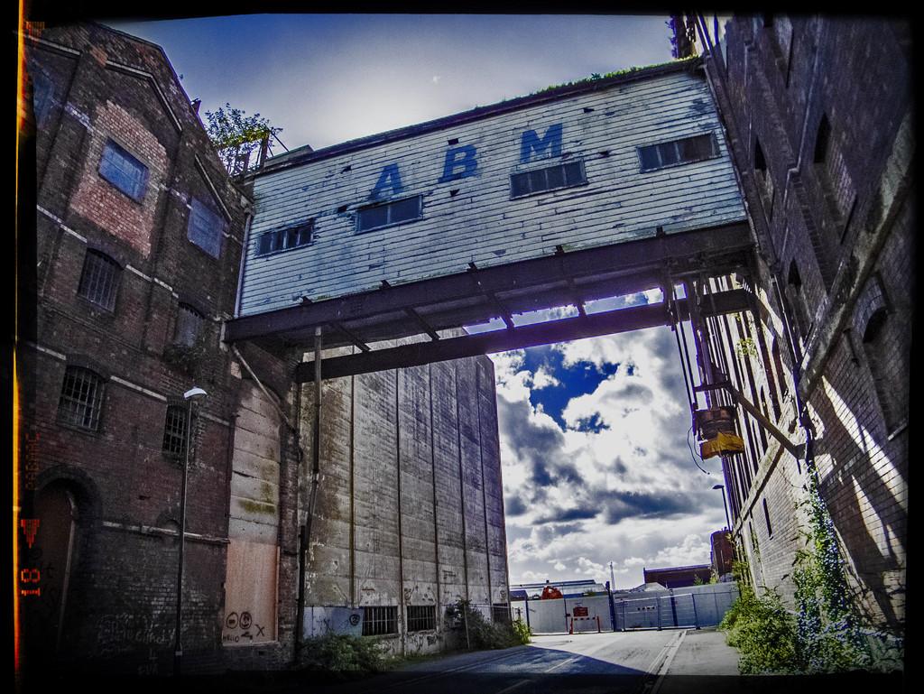 Gloucester Docks, derelict warehouses by ivan