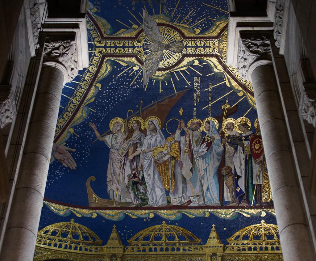 Ceiling Detail, Sacré-Cœur Basilica by fotoblah