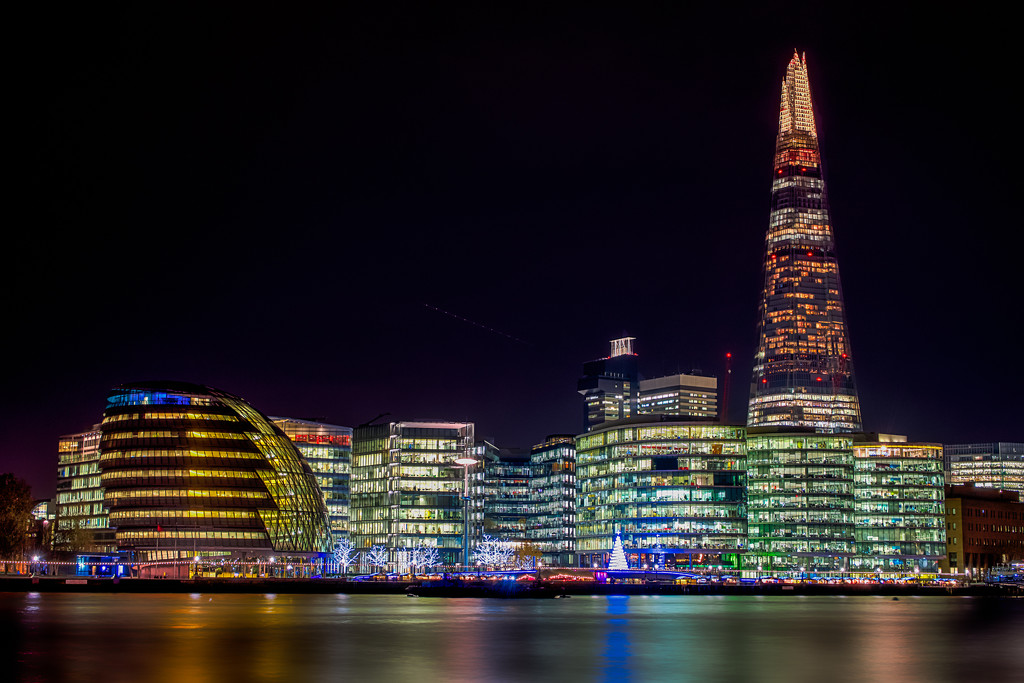 London from Tower Bridge by pasttheirprime