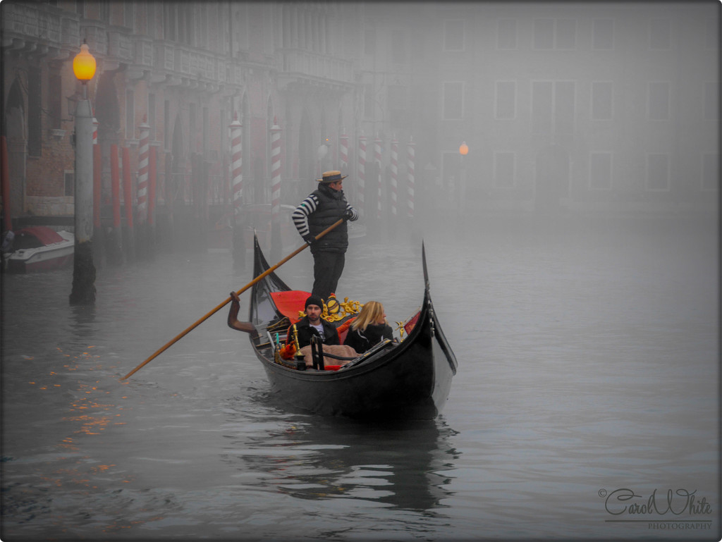 Gondolier In The Fog (best viewed on black) by carolmw