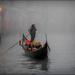Gondolier In The Fog (best viewed on black) by carolmw