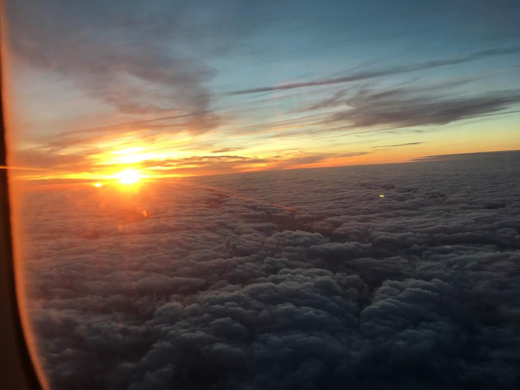 Sunrise on the way to Berlin by bizziebeeme