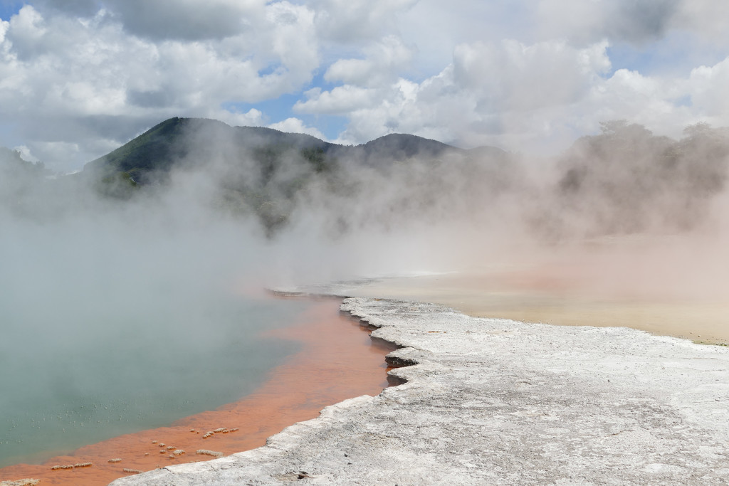 thermal activity in the Champagne pools - Rotorua by hrs