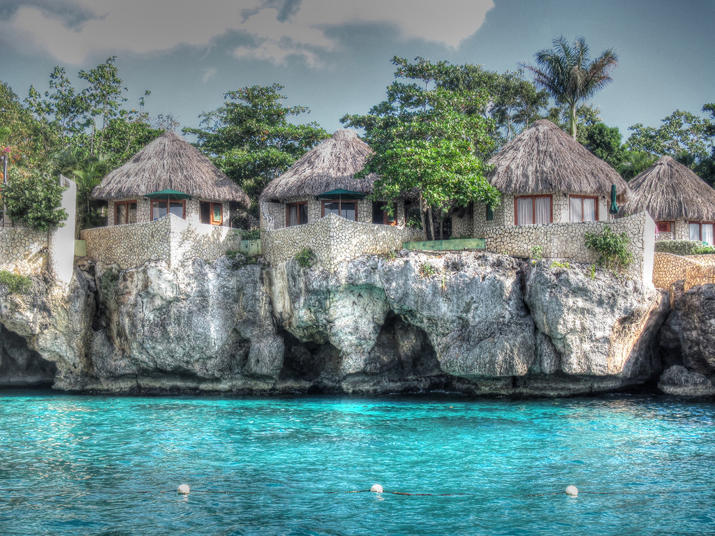 Negril Cliff Huts by pdulis
