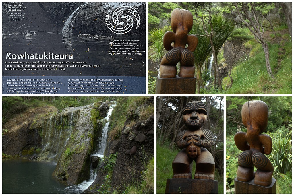 The waterfall and carving by dide