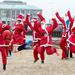 Jumping Santas by dorsethelen