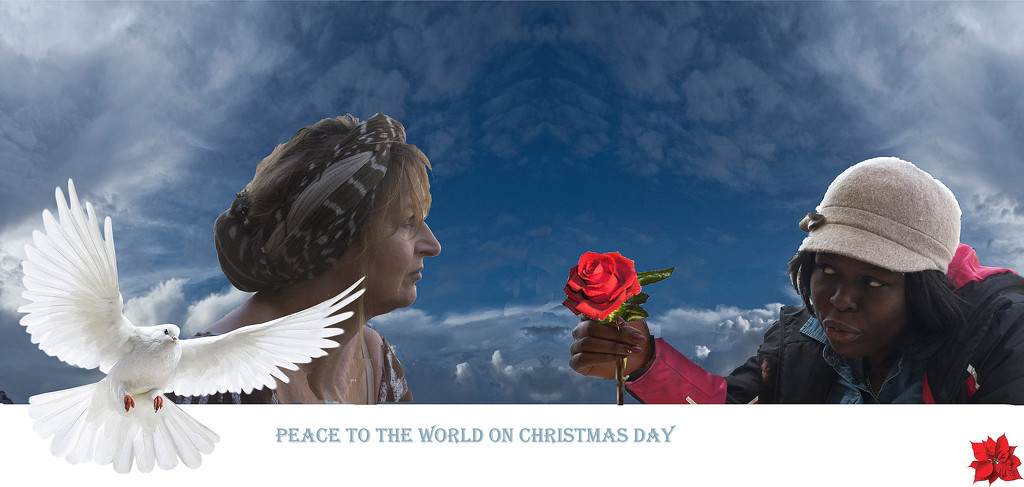 PEACE TO THE WORLD ON CHRISTMAS DAY by sangwann