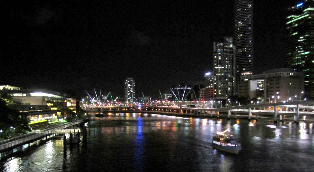 Brisbane along the River.  Festive Season by 777margo