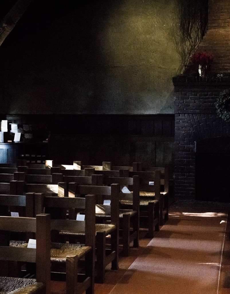 Light inside the Swedenborgian chapel  by cristinaledesma33
