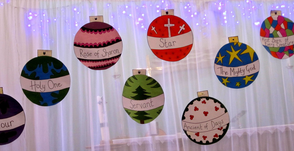 During Advent our church studied the names of Jesus. by 777margo