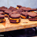 Chocolate, banana and caramel 'whoopies'