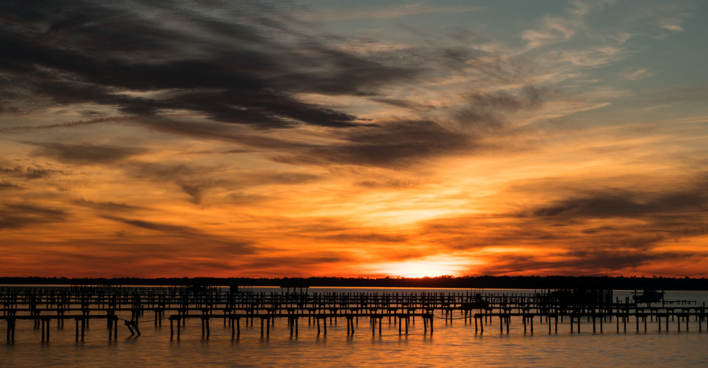 Sunset Over the Walkways and Piers! by rickster549