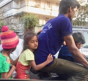 3rd Jan 2017 - Dad takes his kids for a ride.