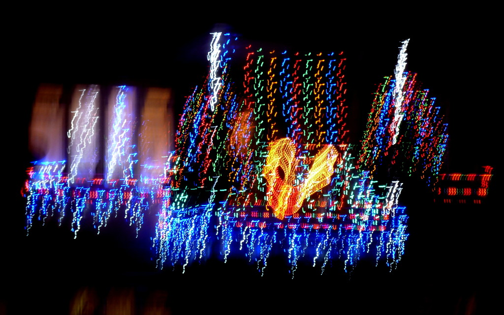 Abstract Christmas lights by boxplayer