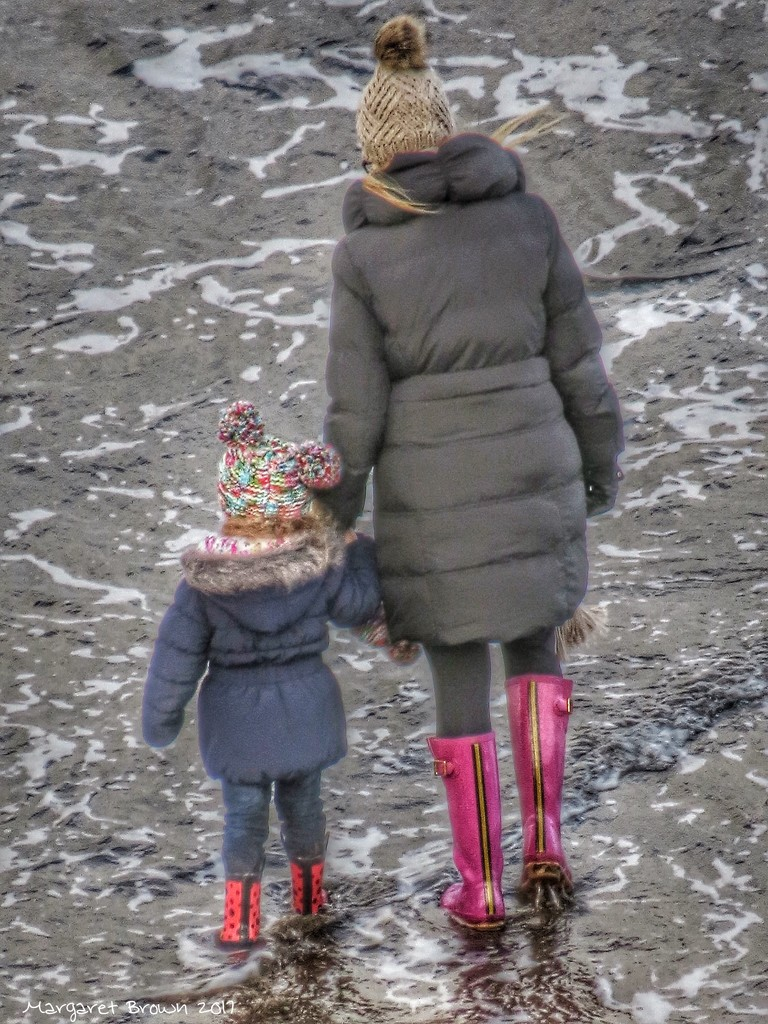 Pink Wellies and Bobble Hats by craftymeg