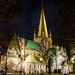 Nidaros Cathedral by night