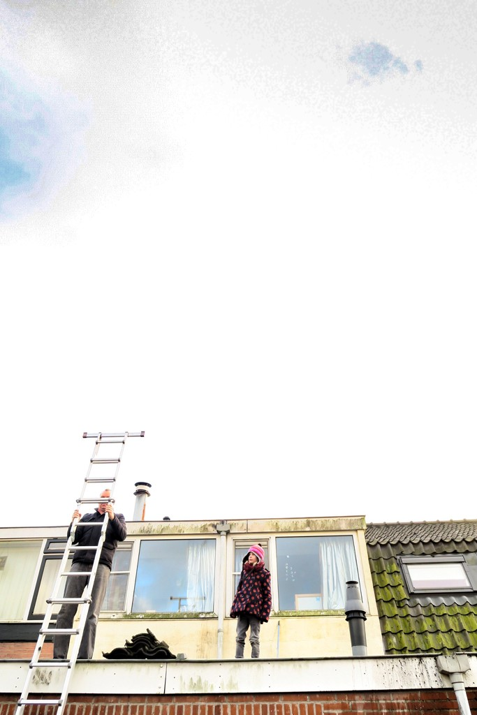 On the roof by halkia