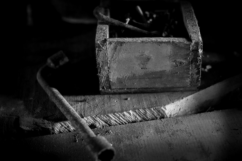 PLAY January - Nikon 50mm f/1.4G: Wrench, Bench & Box by vignouse