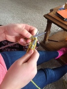 9th Jan 2017 - Knitting lesson