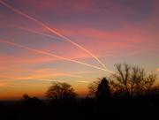 18th Jan 2017 - Sunrise Reflection on Contrails