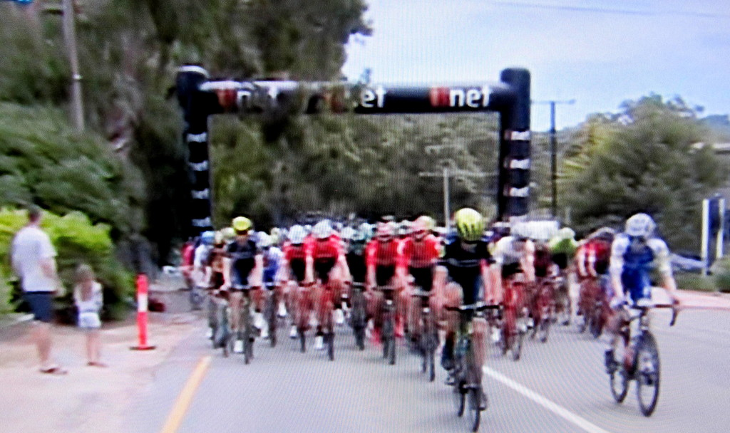 Tour Down Under,  yesterday.  Held in the Adelaide Hills. by 777margo