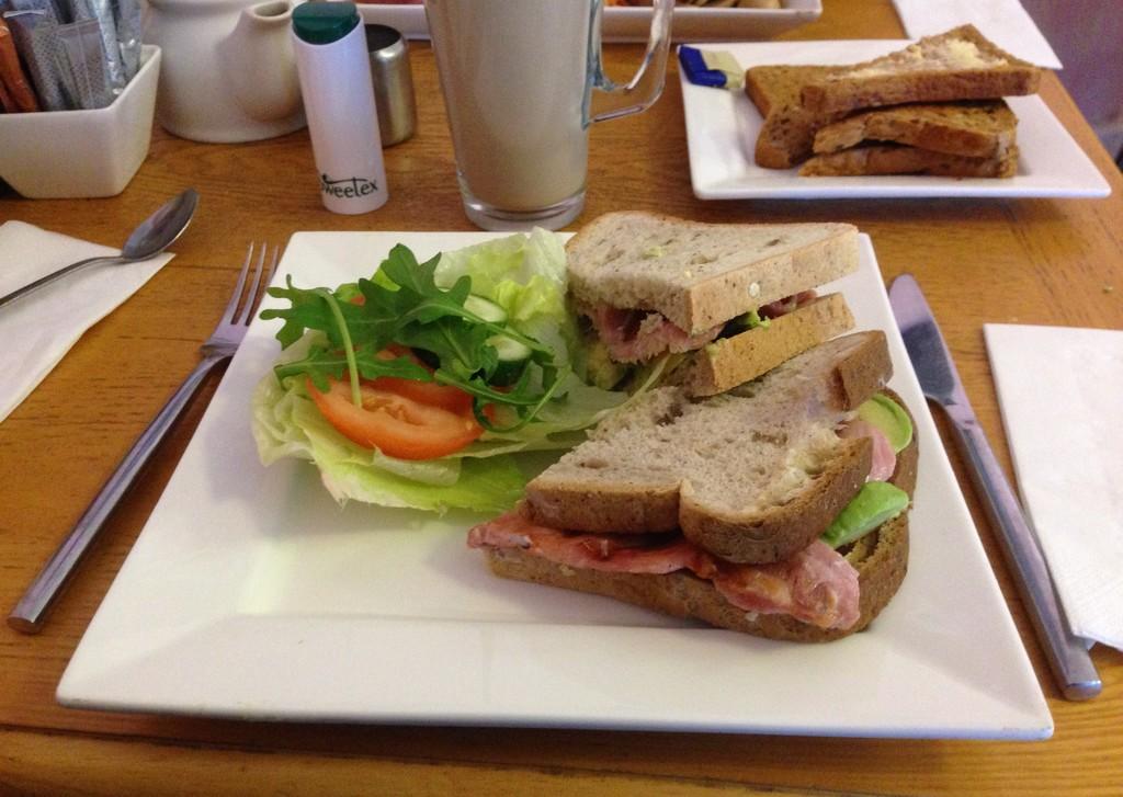 Bacon and Avocado Sandwich by arkensiel