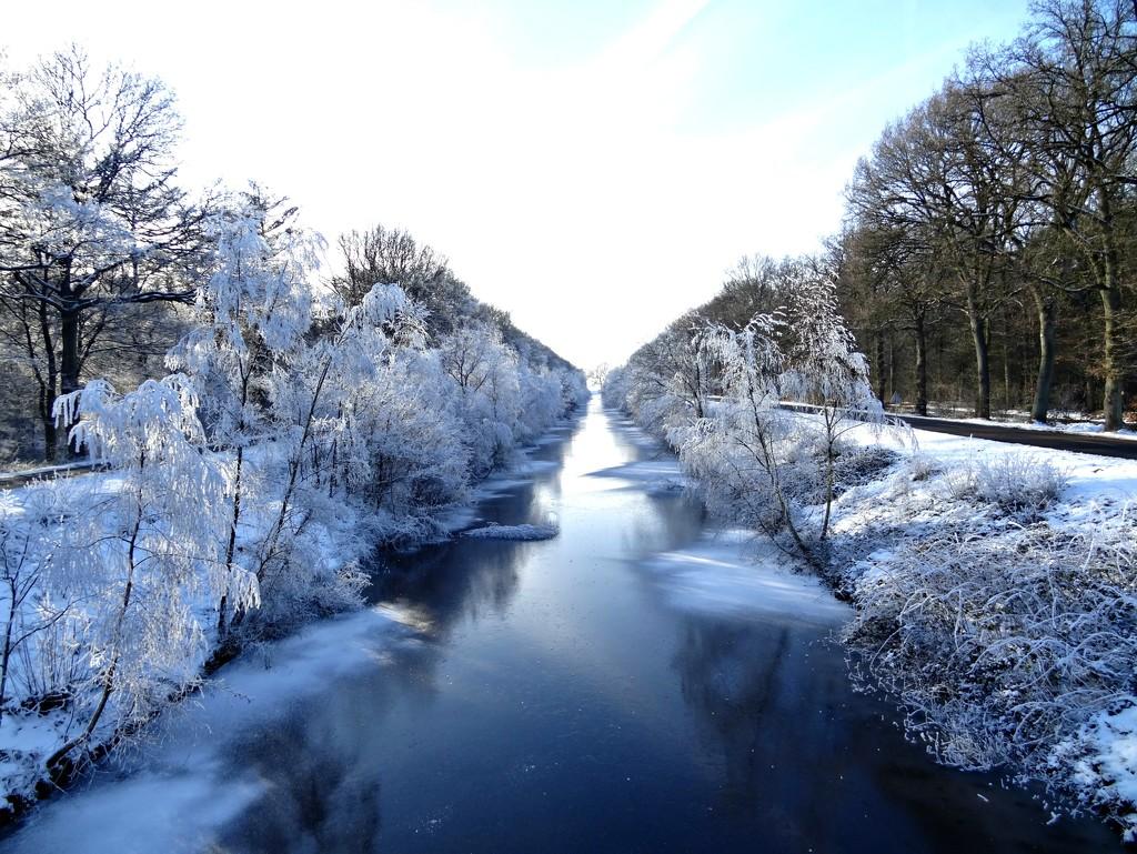 wintry canal by gijsje