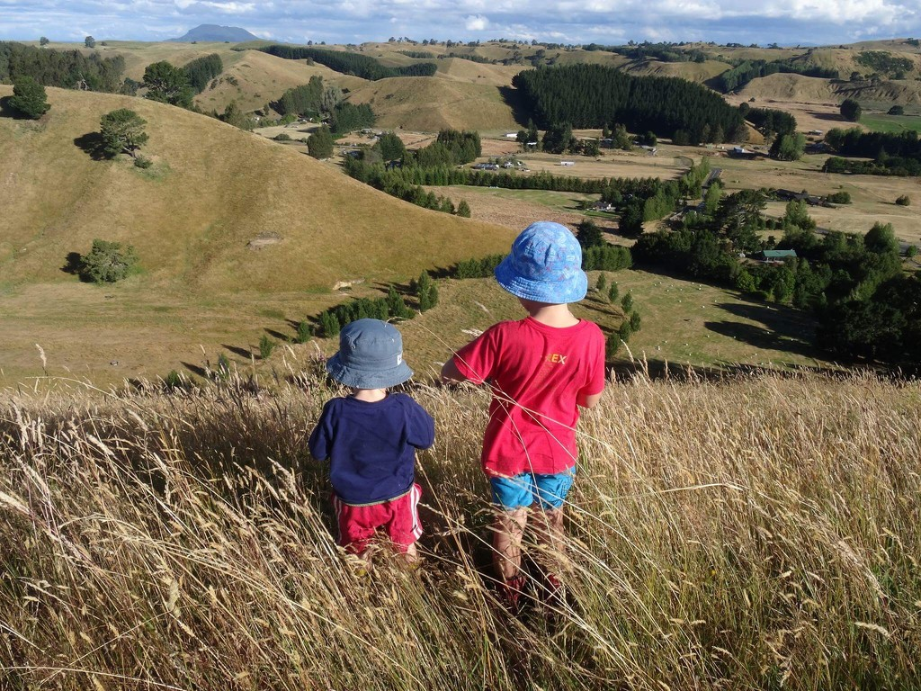 Boys on a hill by happypat