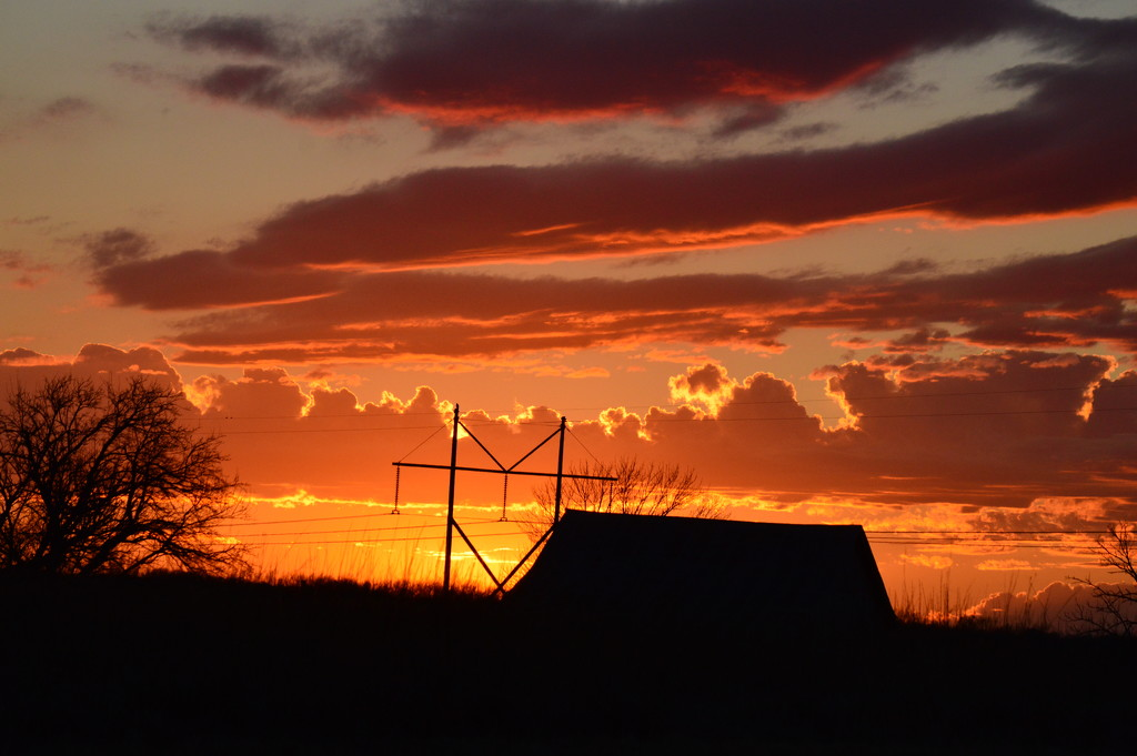 Kansas Sunset 1-24-17 by kareenking