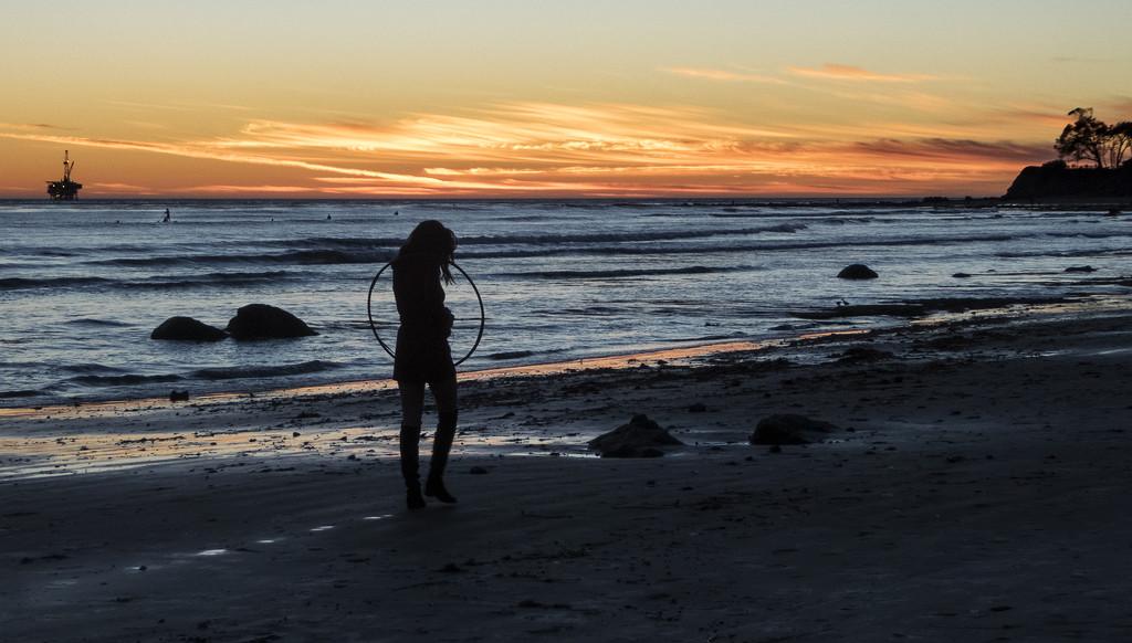 Playing in Santa Barbara Sunset_ by jgpittenger