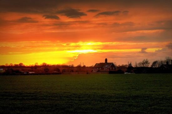 Rural Sunset by judithdeacon