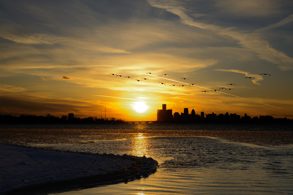 detroit sunset by jackies365