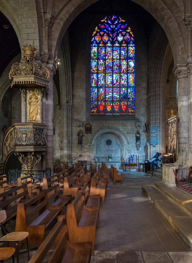 Basilique Notre-Dame du Roncier at Josselin by vignouse