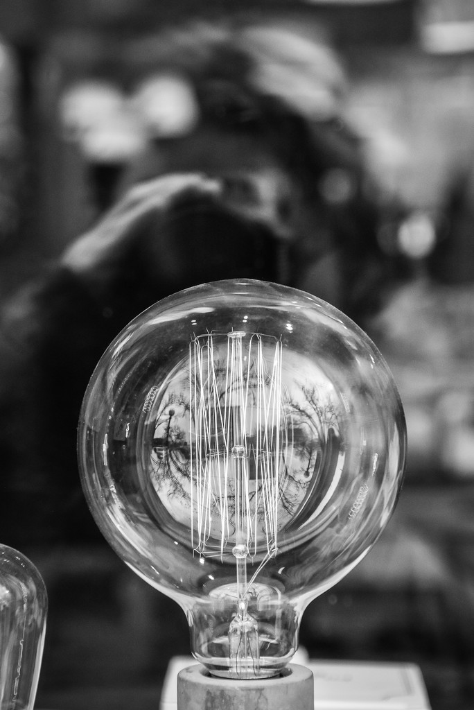 The photographer, the lamp, and the warped reality  by vera365